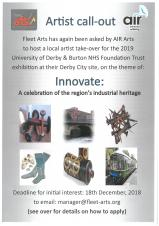Fleet Arts - Innovate Exhibition call-out