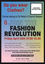 Fashion Revolution - Friday 26 April at 7pm at St Peters Church
