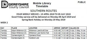 Derbyshire County Council Mobile Library Service