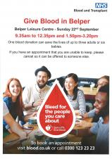 Give Blood in Belper
