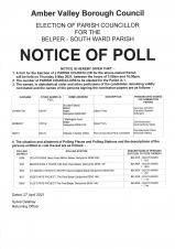 Election of Parish Councillor for the Belper- South Ward Parish